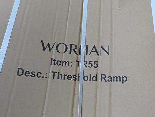WORHAN/® Mobil Schwellenrampe Stufenrampen Rollstuhlrampe Alu Aluminium Rampe T/ürschwellenrampe TR55
