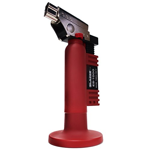 Blazer ES1000 Angled Head Butane Micro Torch, Red