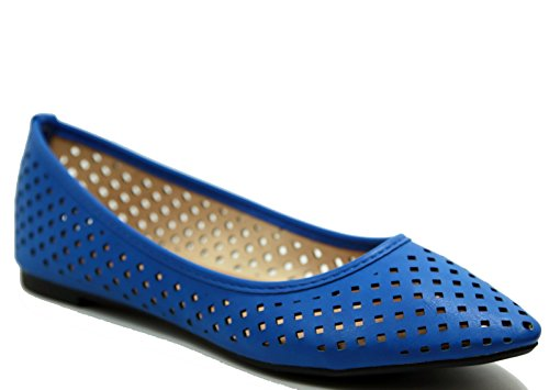 Cheap Walstar Women's Perforated Slip On Comfortable Point Toe Flat Shoes