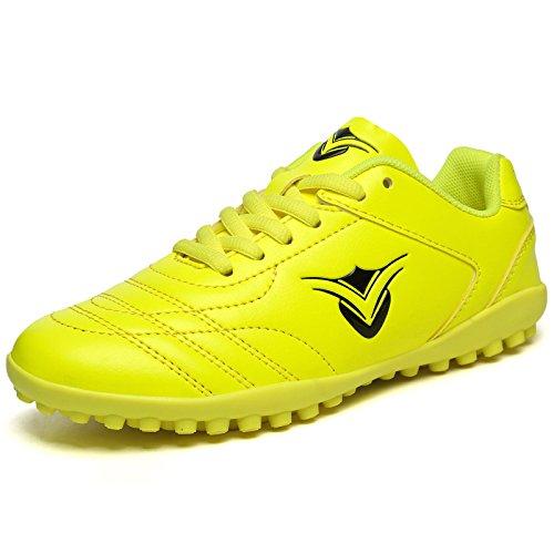 Xing Lin Botas De Fútbol Los Muchachos Y Las Muchachas De Las Zapatillas De Entrenamiento De Alumnos Varones Roto La Uña Del Pie De Cuero Zapatos De Fútbol De Césped Artificial yellow