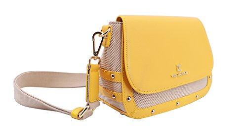 Sac en cuir Ted Santorini de canvas refente jaune trotteur Lapidus Beige toile IqZwIrp
