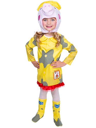 Mygems Peppa Pig Muddy Raincoat Costume for Toddler (Party City Halloween Return Policy)