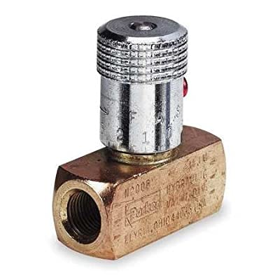 Needle Valve, Brass, 3/8-18, 8 GPM, 2000 PSI from PARKER