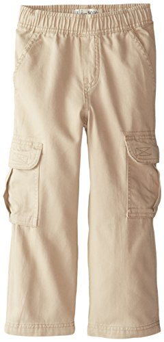 The Children's Place Little Boys' Pull-On Cargo Pants, Flax, 4