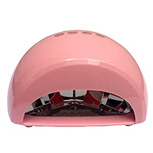 Belle 12W Nail Dryer LED Curing Lamp Gel Nail Machine with Finger Touch Screen Presets Timer (30S-90S),Fashion Pink,110V