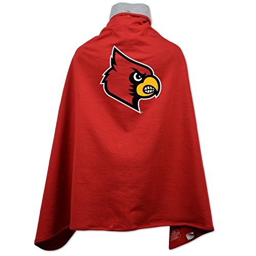 NCAA Louisville Cardinals Children Unisex Cape Drape, One Size, -