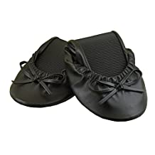 Your Solemates Purse Pal Foldable Bowed Ballet Flats w/ Expandable Tote Bag for Carrying Heels