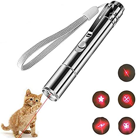 YQQY - Juguete Interior para Gatos, 3 en 1, interacción Multi-Modo, luz para Dibujar, Juguete, luz LED, Gato, Perro, Herramienta de formación (Carga por USB): Amazon.es: Productos para mascotas
