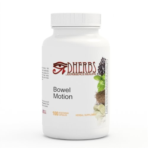 Bowel Motion Supplement, Digestive Gut/Colon Cleanse with Fennel (100 Capsules)