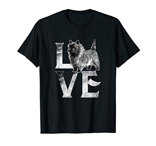 Love Cairn Terrier Dogs T-Shirt Best Dog Trainer Gifts