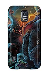 First-class Case Cover For Galaxy S5 Dual Protection Cover Magical Animals Monster Fantasy Animal Bear Humor Funny Dark Creature