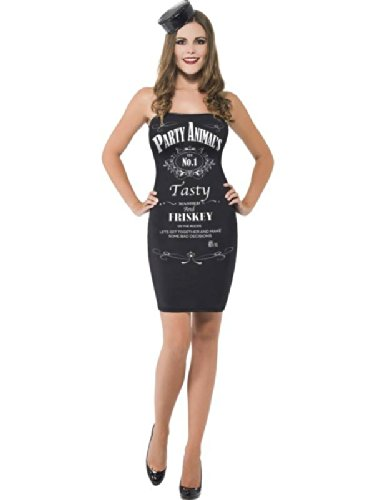 Traje de neopreno para mujer Jack Daniels Negro Mini botella de diseño de bebidas alcohólicas con