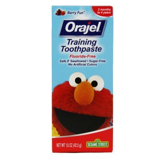 (4 Pack)-Orajel Toddler Training ToothPaste-Fruit Splash, 1.5 Oz. each by Orajel