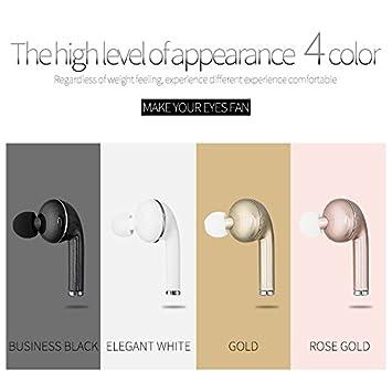 Mini auriculares inalámbricos Bluetooth V4.1 Auriculares STEALTH auriculares oreja auricular con micrófono para iPhone 7/7S Samsung HTC Xiaomi: Amazon.es: ...