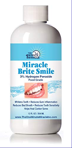 (Miracle Write Smile - Essential Oxygen Rinse Mouthwash for Whiter Teeth, Fresher Breath, and Healthier Gums, Peppermint 12 fl. oz)