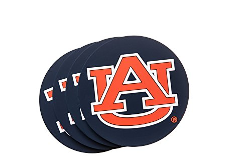 AUBURN TIGERS 4-Pack NCAA PVC Coaster by Collegiate Pulse