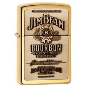 Zippo Manufacturing Genuine Brass Jim Beam Lighter (Beam Jim Zippo)