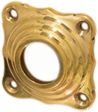 T/ürbeschl/äge antik Dr/ückergarnitur f/ür Innent/üren aus poliertem Messing T/ürdr/ücker mit Keramikgriff Modell Ansfelden B