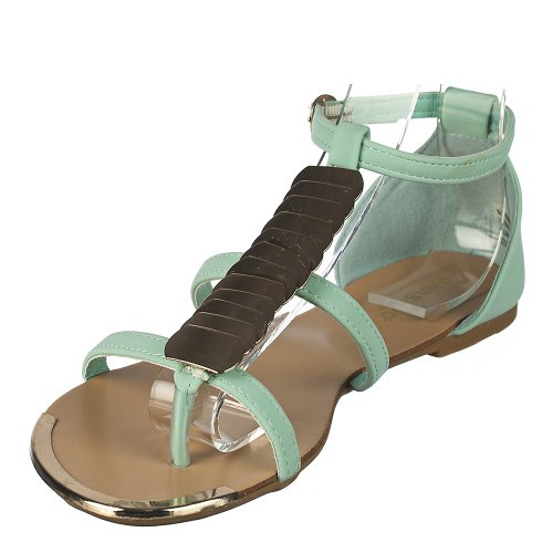 Bamboo Mujeres Macalen-12 Sandal Mint Green