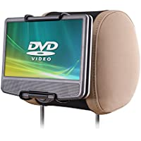 WANPOOL Car Headrest Mount Holder for Portable DVD Player, fit Swivel Screen & Standard Laptop Style Portable DVD Player