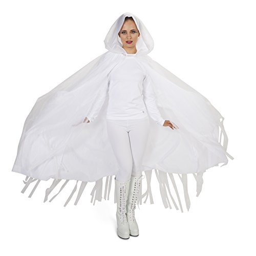ers - Hooded Lined White Mesh Adult Cape - One-Size ()
