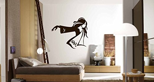 Wall Decals for Teen Girls, Fashionable Young Woman Vinyl Sticker Decor for Bedroom, Dance - Mall Stores Orange Of