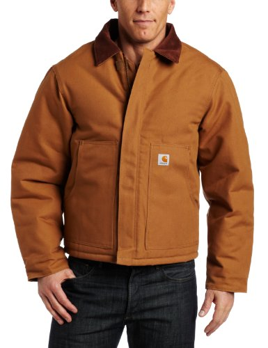 Duck Arctic Cotton Jacket Traditional - Carhartt Men's Arctic Quilt Lined Duck Traditional Jacket,Brown  (Closeout),42