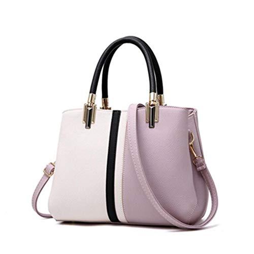 Femmes Main Sac Shopping à Lavender bandoulière Black 4AIqxnfp