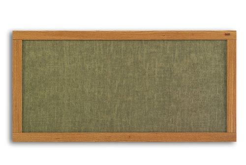 (Marsh 48x144 Blue Sky Vinyl Message Display Bulletin Board, Oak Wood Trim)