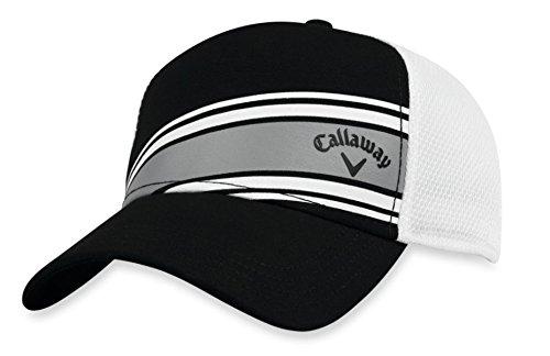Mesh Stripe Golf (Callaway Golf 2018 Stripe Mesh Adjustable Hat, Black/ White)