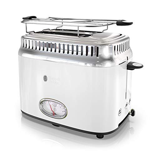 Russell Hobbs TR9150WTR Retro Style Toaster, 2-Slice, White by Russell Hobbs (Image #8)