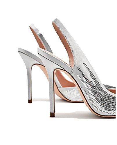 Zara Donna Scarpa tacco aperta sul tallone paillettes 5800/201