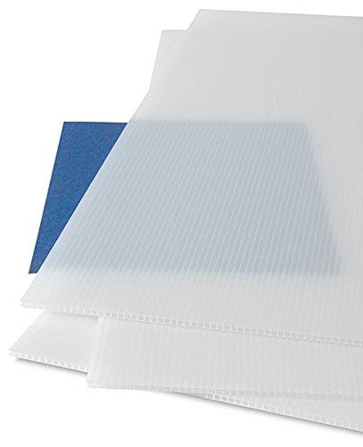Falken Design COR-NAT-4MM/1248 Coroplast Sign Board, Corrugated Fluted Plastic Sheet 4mm (0.157'') 12'' x 48'' - Natural, Plastic by Falken Design Corporation