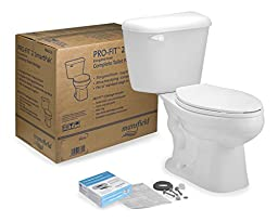 Mansfield Plumbing Products 4135CTK Pro-Fit 2 Toilet in Box, 1.28 GPF El Bowl