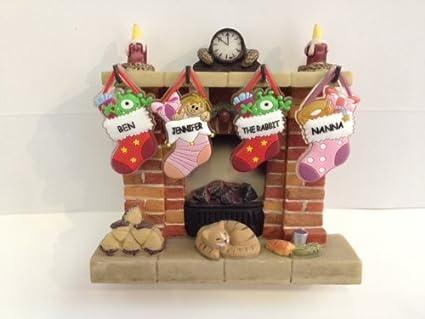 Christmas Stocking Fireplace Display Medium By Waiting For Santa