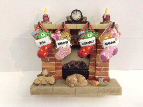 Christmas Stocking Fireplace Display - Medium by Waiting For Santa:  Amazon.co.uk: Kitchen & Home - Christmas Stocking Fireplace Display - Medium By Waiting For Santa
