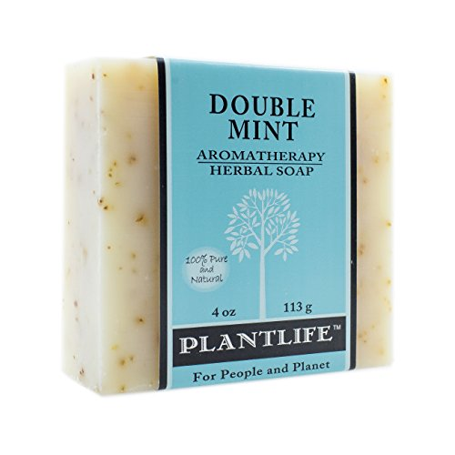 Double Mint 100% Pure & Natural Aromatherapy Herbal Soap- 4 oz (113g)