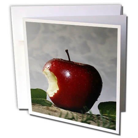 3dRose TDSwhite – Farm and Food - Food Take Bite Out of Apple - 12 Greeting Cards with Envelopes (gc_285173_2) by 3dRose