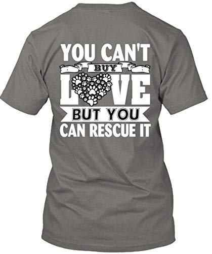 You Can't Buy Love But You Can Rescue It T Shirt, Being A Cat Lady T Shirt Unisex (XXL,Dark -