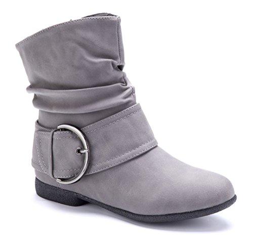 Stiefeletten Flache Stiefel Damen Schuhtempel24 Schuhe Boots dreCxBo