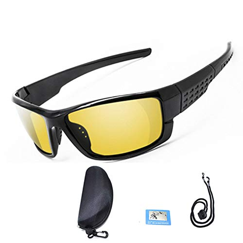 Romantico 2019 Cycling Glasses Polarized Bicycle Road Bike Eyewear Men Women Outdoor Sport Driving Sunglasses UV400,Yellow with Box