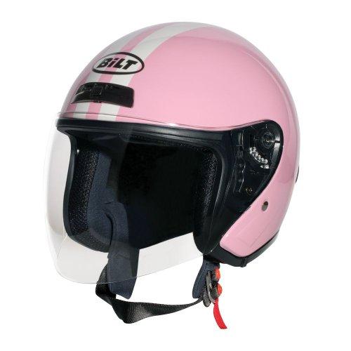 Ladies Roadster (CUSTOM BILT Women's Roadster Retro Open-Face Motorcycle Helmet - MD, Pink/Cream)