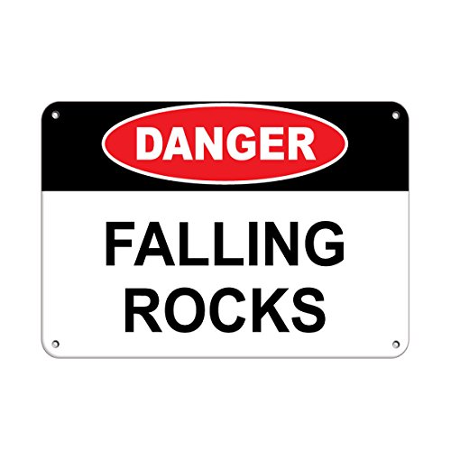 Danger Falling Rocks Hazard Sign Construction Sign Aluminum METAL Sign 10 in x 14 in from Fastasticdeals