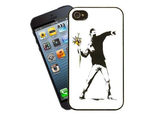 Banksy Blumen randalieren Fall Telefondesign 8 - für Apple iPhone 5 / 5 s - Cover von Eclipse-Geschenkideen
