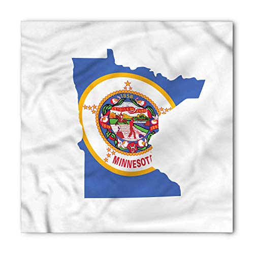 Minnesota Bandana, North Star State Map Flag, Unisex Head and Neck Tie ()