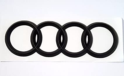 Amazoncom Audi Matte BLACK Rear Emblem Decal Logo Trunk Hatch - Audi emblem