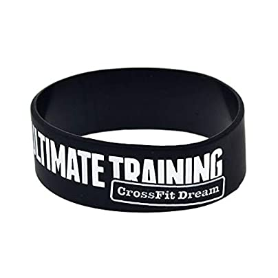Hjyi Silicone Wristbands Rubber Bracelets Ultimate Training Crossfit Dream Fitness Training Silicone Bracelet Hand Strap 10 Pieces Estimated Price £21.99 -