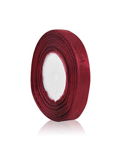 Zacoo Solid Organza Ribbon 50 yards roll Dark Red