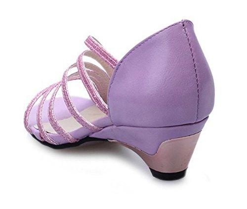 Sandales avec bas Été étincelante sur Violet Bande femme Good Toe talons Mode à Peep Night Glisser 67zxqfxnY