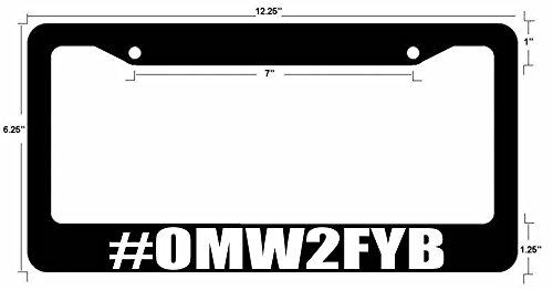 f your b JDM Funny Race Drift Dope Auto License Plate Frame Black ()